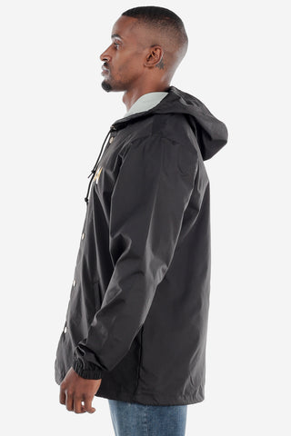 Black Snap Up Windbreaker