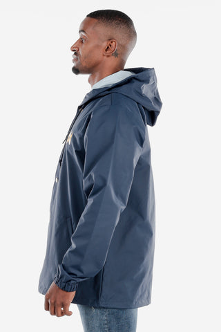 Navy Snap Up Windbreaker