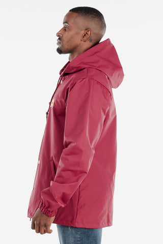 Red Snap Up Windbreaker