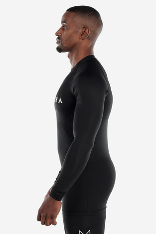 Black Long Sleeve Compression Shirt
