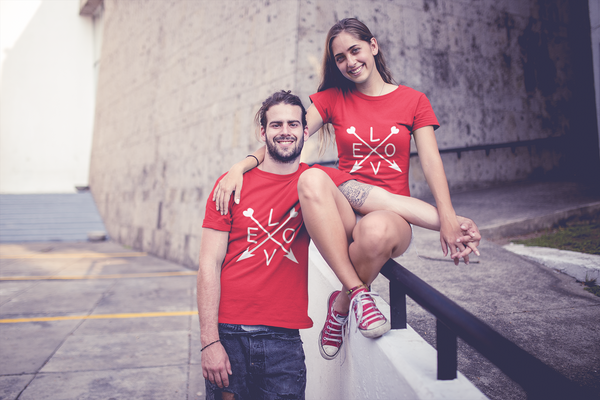 LOVE Printed Couple T-Shirt- Show that you are truly, deeply madly in love with each other.