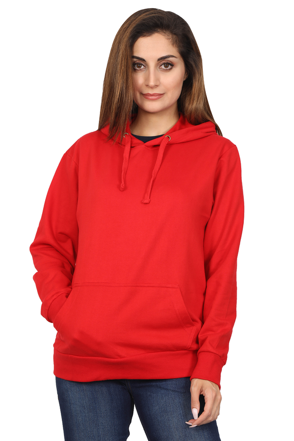 plain red hoodie for women online in India - nautunkee.com