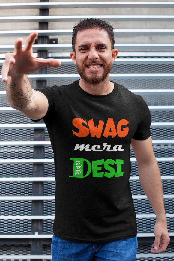 Swag Mera Shudh Desi | Men Half Sleeve Round Neck T-Shirt