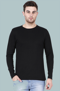 black full sleeves t-shirt online in India - nautunkee.com