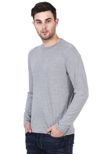 grey full sleeves t-shirt online in India - nautunkee.com