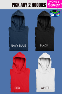 combo pack of 2 plain hoodies online in India - nautunkee.com