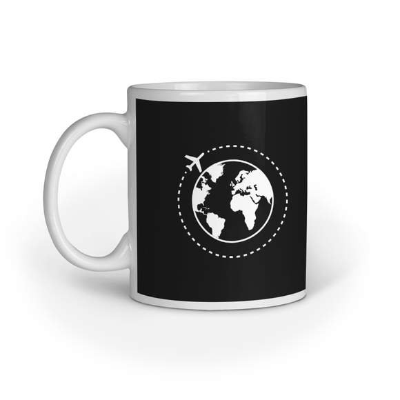 Travel More Printed Coffee Mug - Black (11oz/330ml)