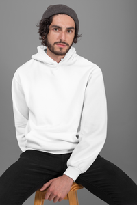 plain white hoodie for men online in India - nautunkee.com