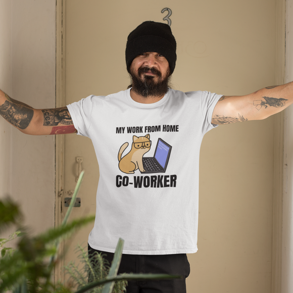 My Work From Home Co Worker T Shirt work from home t shirt for men online in India
