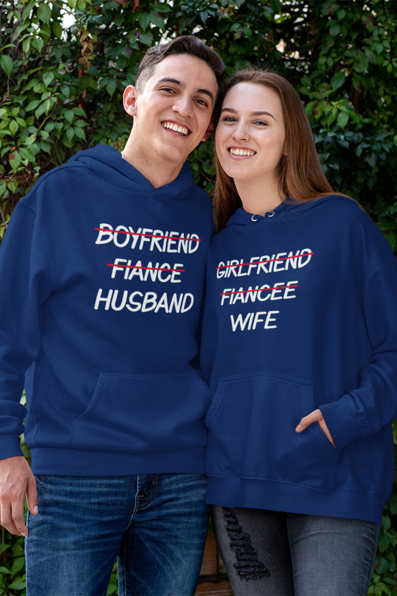 Fiance To Husband Fiancee To Wife Couple Hoodie - nautunkee.com