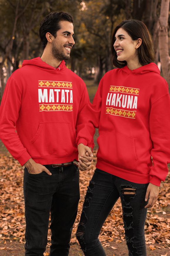 Hakuna Matata Matching Couple Hoodie | Anniversary Gift For Couples