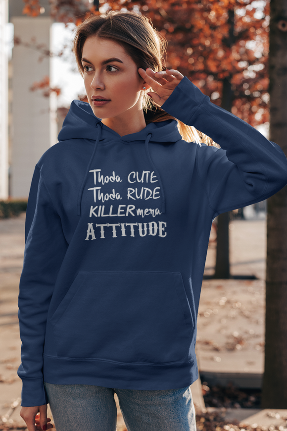 Killer Mera Attitude Women's hoodie online in India- nautunkee.com