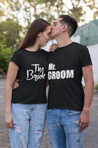 bride & groom couple t shirt for pre wedding - nautunkee