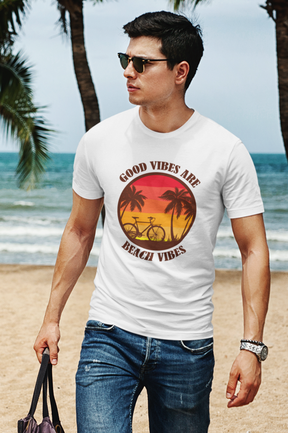 Beach Vibes Men's T-shirt for beach vacation online in India- nautunkee.com