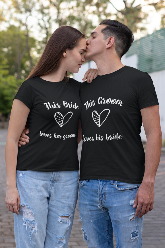 bride & groom couple t shirt for pre wedding, couple t shirts for pre wedding shoot - nautunkee