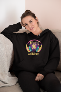Music On World Off Women's Hoodie