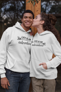 Life Is An Adventure Travel Couple Hoodie
