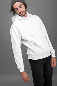 Plain White Hoodie For Men