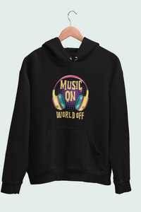 Music On World Off Men's Hoodie