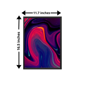 Colorful Abstract Wall Art | A3 Size Framed Wall Decor