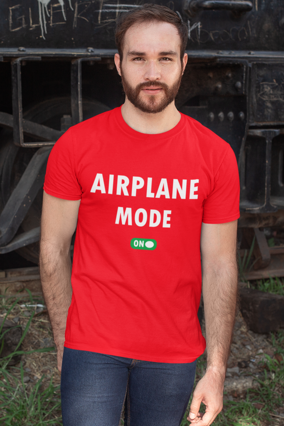 Airplane Mode - On | Men Half Sleeve Round Neck T-Shirt