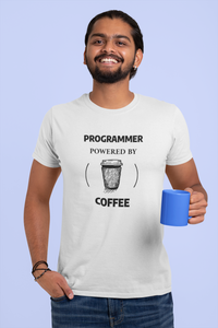 Programmer Powered By Coffee Men T-Shirt for programmers - nautunkee.com