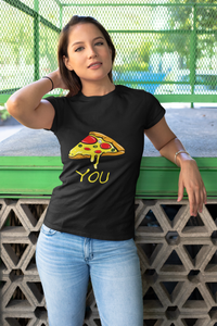 Pizza Slice Matching Couple Tee