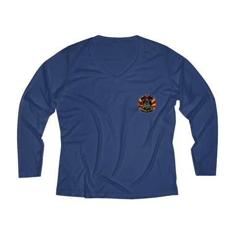 Engine Co. 121 Women's Long Sleeve Performance V-neck Tee