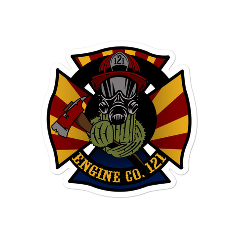 Engine Co. 121 Bubble-free stickers
