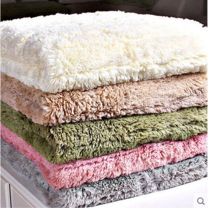 New Plush Sofa Covers Towel Solid Color