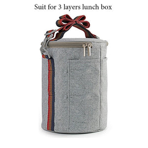 3 Layer Gradient Color Japanese Lunch Box
