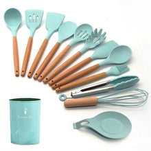 Load image into Gallery viewer, 12-Pcs Pink Silicone Kitchen Utensils