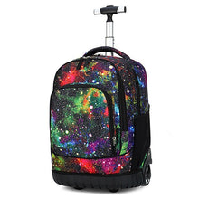 Load image into Gallery viewer, 18 Inch Rolling Backpack Travel School Backpacks