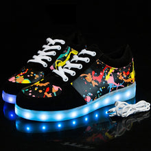 Load image into Gallery viewer, Children Glowing Sneakers with Light Shoes