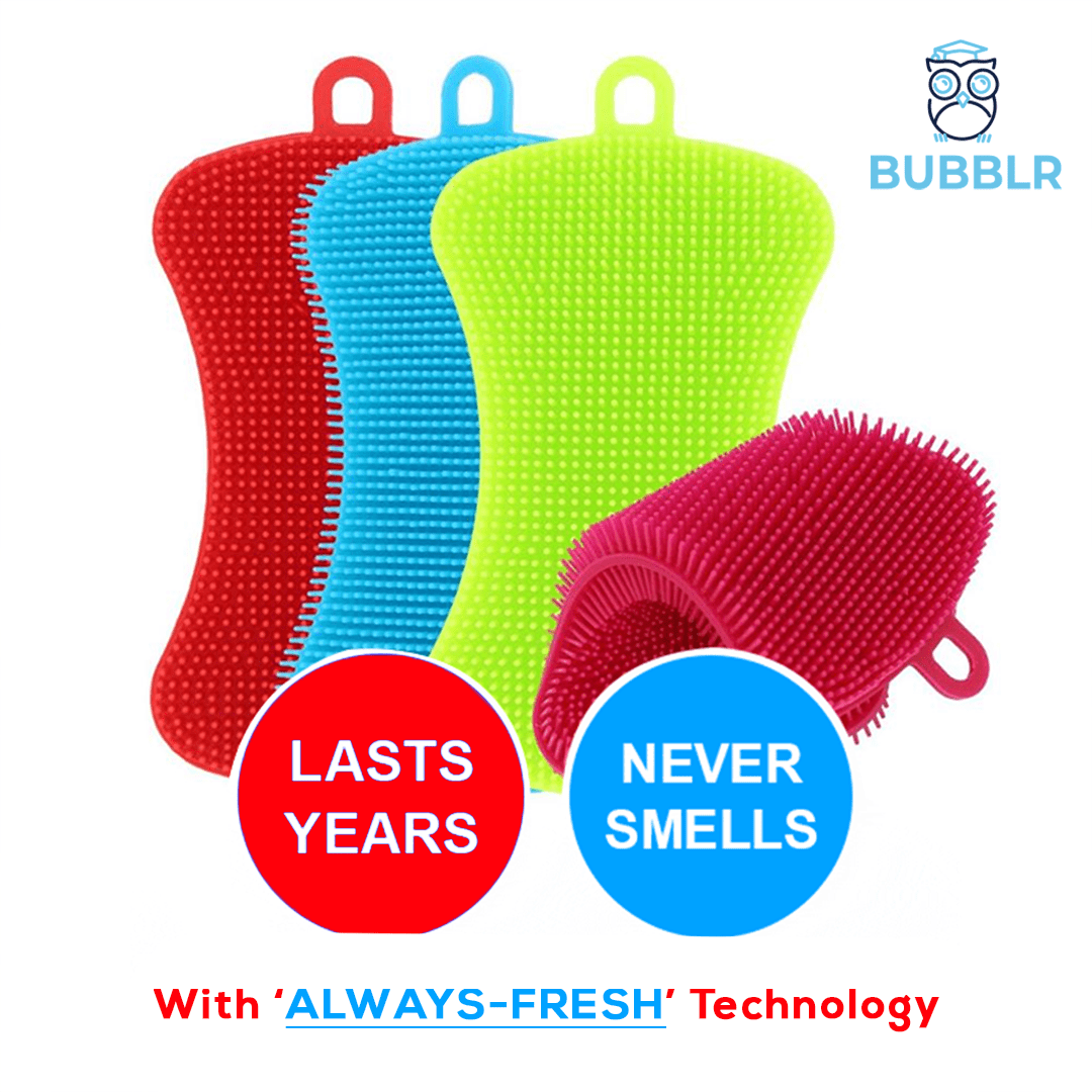 BUBBLR™ Antibacterial Body Scrubber (4PCS/Pack)