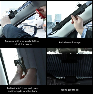 Car Retractable Windshield Cover