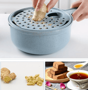 8in1 Multi-Function Mandoline Set: Slicer-Cutter-Chopper-Grater [2020 Design]