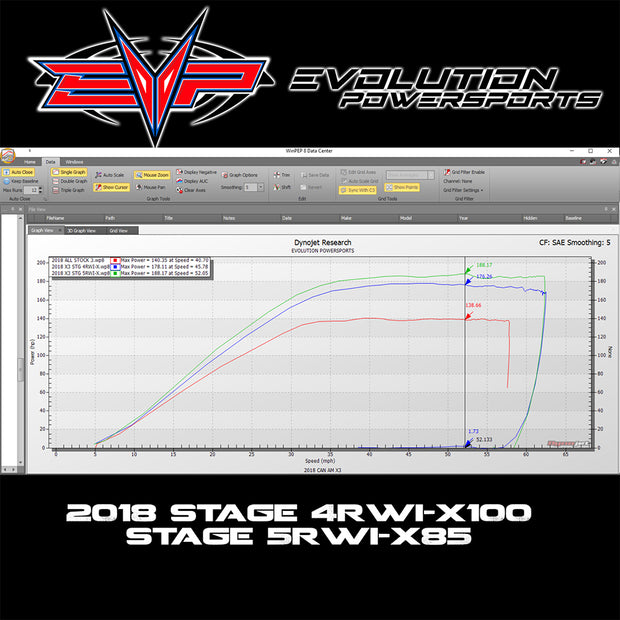 EVOLUTION POWERSPORTS 2017 X3 ECU PROGRAMMING - 2018 SPECS WITH FUEL PUMP
