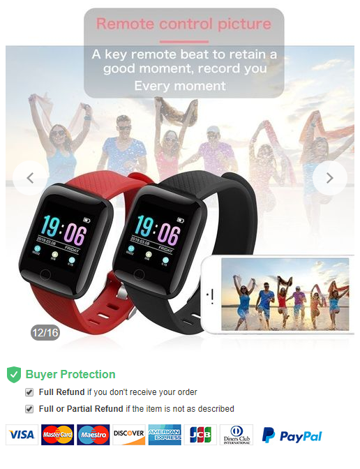 Fitness Tracker Wristband Smart Watches IP67 Waterproof Activity Sports