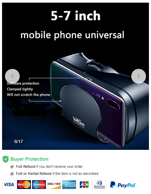 2020 Virtual Reality 3D VR Glasses for 5-7 Inch IOS/Android Smartphone 3D VR Helmet