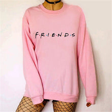 Load image into Gallery viewer, Brand New 2019 Womens 5 Colors Letters FRIENDS Print Long Sleeve Hoodie Sweatshirt Ladies Slouch Pullover Jumper Tops S M L XL