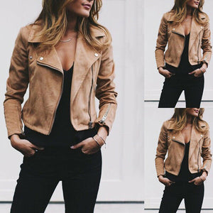 2019 Hot Women's Jacket Flight Coat Zip Up Windbreaker Lady Solid Fashion Biker Loose Tops Outwear Clothes