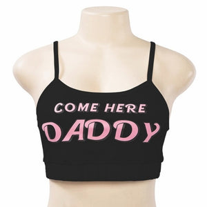 Summer Woman Soft Letter DADDY Print Short Tank Tops + Ladies Female White Please Underwear Women Casual Tank Tops