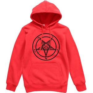 Pentagram Gothic Occult Satan New Men's Fashion Hoodies High Quality All-match Male Pullover Brand Clothing Harajuku Mens Tops