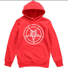 Load image into Gallery viewer, Pentagram Gothic Occult Satan New Men's Fashion Hoodies High Quality All-match Male Pullover Brand Clothing Harajuku Mens Tops