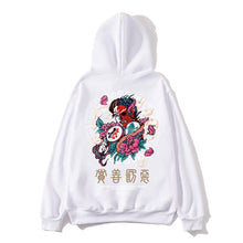 Load image into Gallery viewer, Supzxu Hoodies Men Ghost Japanese street Hooded Thick Pullover Sweatshirt Men High Street Fashion Hip Hop Autumn Streetwear