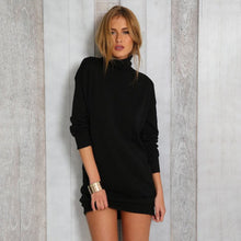 Load image into Gallery viewer, Women Turtleneck Sexy Dress Knitted Sweater Dress Female Long Sleeve Dresses