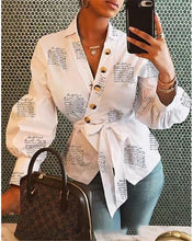 Load image into Gallery viewer, Fall 2019 Long Sleeve Fashion Women V Neck Tops And Blouses blusas mujer de moda Bandage Women Tops Streetwear Outfits Clothes
