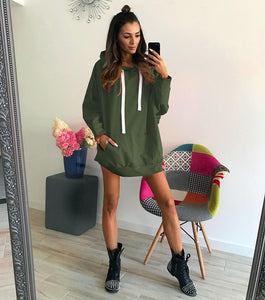 2019 New Winter Female Solid Sweatshirt  Women Autumn Hoodies Top Hoodie Harajuku Hoodie  Female Black Colthes Oversized Hoodie