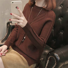 Load image into Gallery viewer, 2019 New Fashion Autumn Winter Women Short Sweatr Korean Loose Slim Wild Long Sleeve Knitted Sweater Spring Office Casual Slim